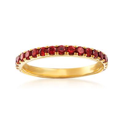.70 ct. t.w. Garnet Ring in 18kt Gold Over Sterling, , default