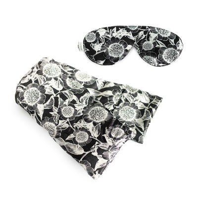 Carmel Daisy Silk Hot/Cold Pack and Eye Mask Set, , default