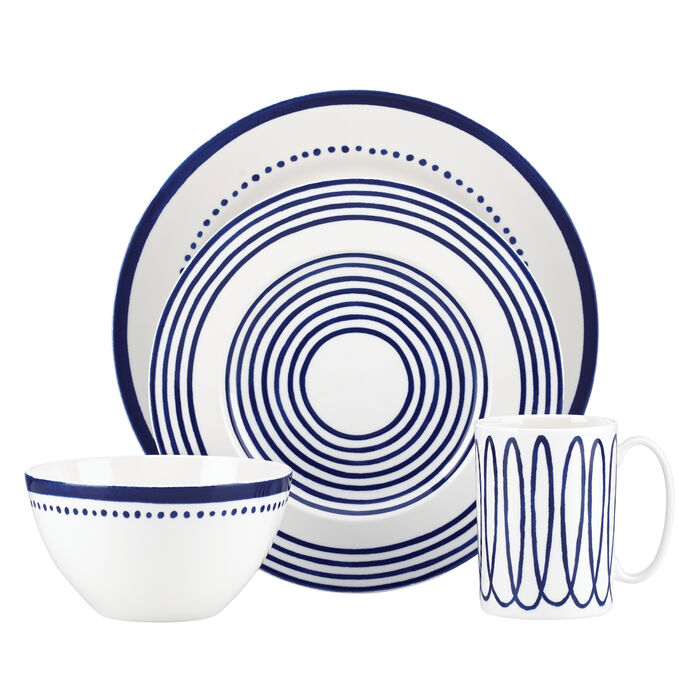 """Kate Spade New York """"Charlotte Street West"""" 4-pc. Blue Place Setting"""