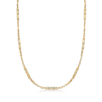 C. 1930 Vintage Chain Necklace in 10kt Yellow Gold, , default