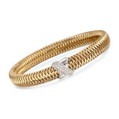 "Roberto Coin ""Primavera"" .18 ct. t.w. Diamond Bangle Bracelet in 18kt Two-Tone Gold, , default"