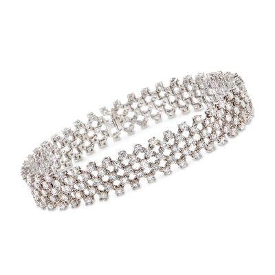 C. 1980 Vintage 8.40 ct. t.w. Diamond Mesh-Style Bracelet in 18kt White Gold, , default