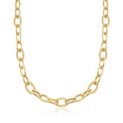 Italian Andiamo 14kt Yellow Gold Curb-Link Necklace, , default