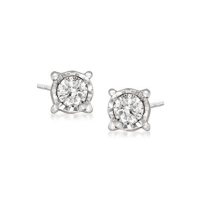 .10 ct. t.w. Diamond Stud Earrings in Sterling Silver