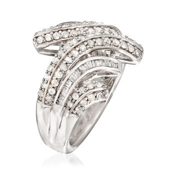 .98 ct. t.w. Round and Baguette Cut Diamond Ring, , default