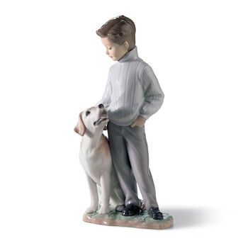 "Lladro ""My Loyal Friend"" Porcelain Figurine , , default"