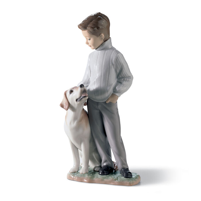 "Lladro ""My Loyal Friend"" Porcelain Figurine , , default"