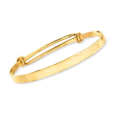 C. 1980 Vintage 14kt Yellow Gold Double-Row Bangle Bracelet, , default