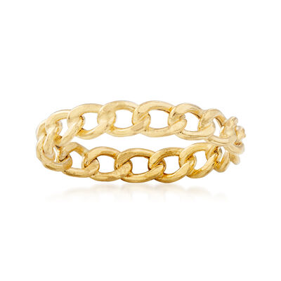 Italian 14kt Yellow Gold Curb-Link Ring, , default