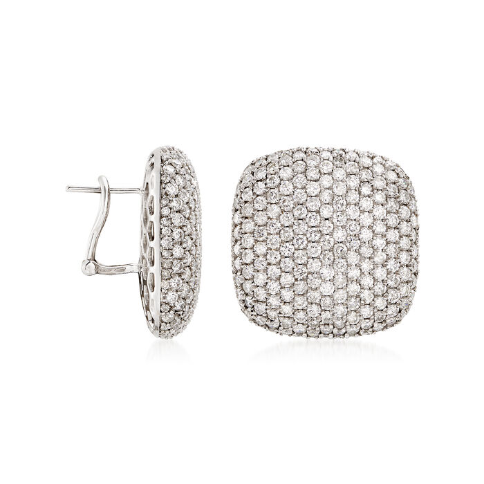 9.25 ct. t.w. Diamond Square-Shape Stud Earrings in 18kt White Gold