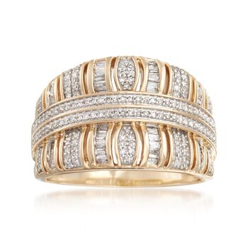 .49 ct. t.w. Baguette and Round Diamond Ring in 14kt Yellow Gold, , default