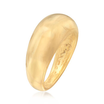 Italian 18kt Yellow Gold Small Dome Ring