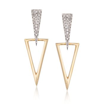 .12 ct. t.w. Diamond Jewelry Set: Earrings and Earring Jackets in 14kt Two-Tone Gold , , default