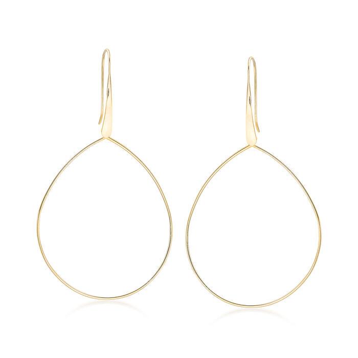 14kt Yellow Gold Open-Space Teardrop Earrings , , default
