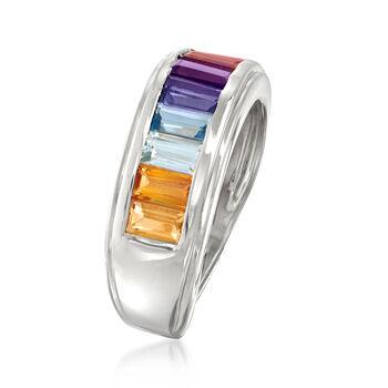 1.70 ct. t.w. Multi-Gemstone Ring in Sterling Silver, , default