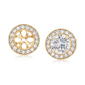 .34 ct. t.w. Diamond Milgrain Earring Jackets in 14kt Yellow Gold , , default
