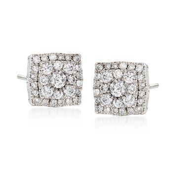Gregg Ruth .55 ct. t.w. Diamond Earrings in 18kt White Gold, , default