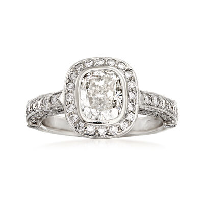 C. 2000 Vintage 2.35 ct. t.w. Diamond Border Ring in 18kt White Gold, , default