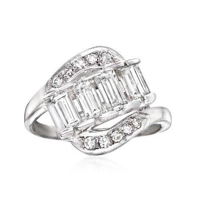 C. 1970 Vintage 1.15 ct. t.w. Diamond Ring in Platinum