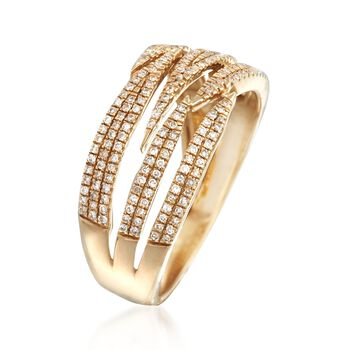 .33 ct. t.w. Diamond Stripes Ring in 14kt Yellow Gold, , default