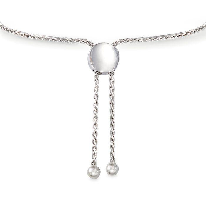 .15 ct. t.w. Black Diamond Bar Bolo Bracelet in Sterling Silver