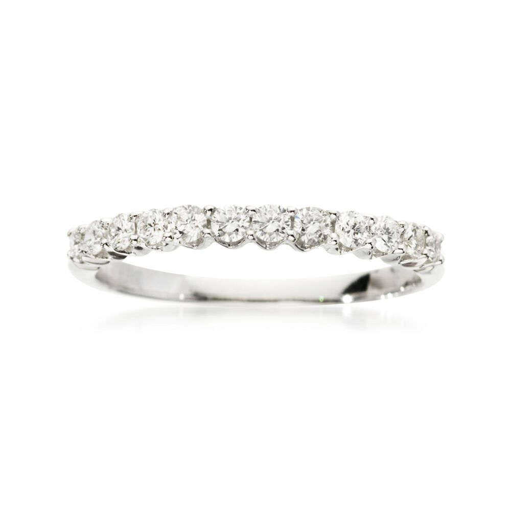 T W Diamond Wedding Ring In 18kt White Gold Default