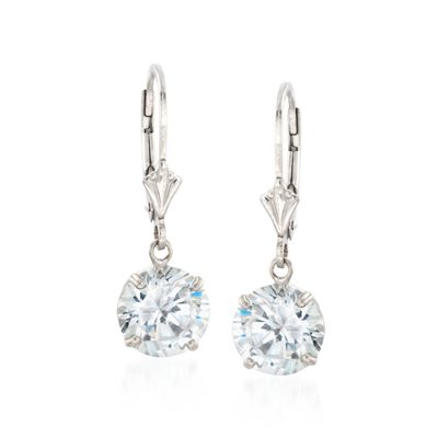 4.00 ct. t.w. Round CZ Drop Earrings in Sterling Silver, , default