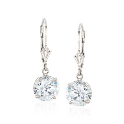 4.00 ct. t.w. Round CZ Drop Earrings in Sterling Silver, , default