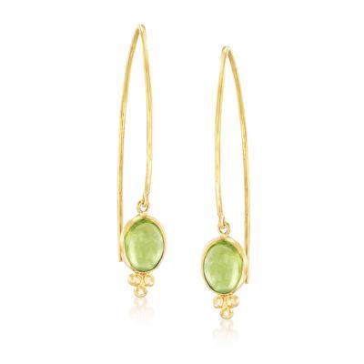 Mazza 3.60 ct. t.w. Peridot Drop Earrings in 14kt Yellow Gold, , default