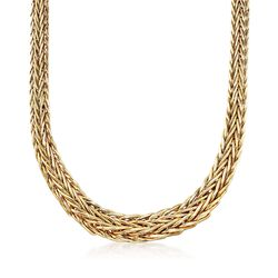 14kt Yellow Gold Graduated Wheat Chain Necklace, , default
