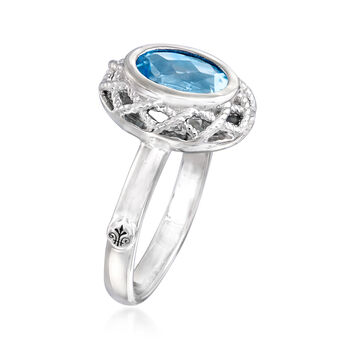 "Andrea Candela ""Rioja"" 2.00 Carat Blue Topaz Ring in Sterling Silver, , default"