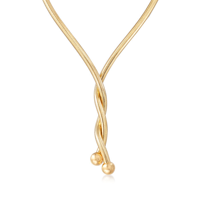 Italian 18kt Yellow Gold Over Sterling Silver Flexible Four-In-One Necklace/Bracelet, , default