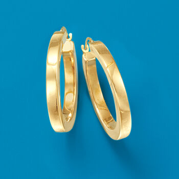 """Andiamo 14kt Yellow Gold Hoop Earrings. 1"""""""