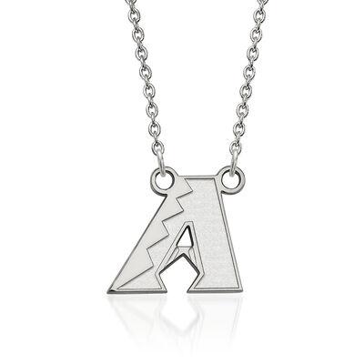 "Sterling Silver MLB Arizona Diamondbacks Pendant Necklace. 18"", , default"