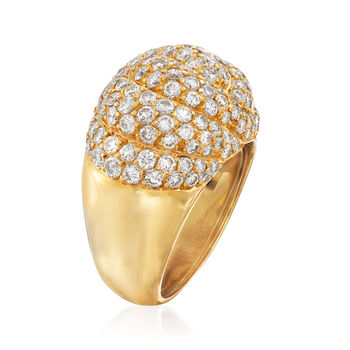 C. 1990 Vintage Piaget 3.50 ct. t.w. Diamond Dome Cocktail Ring in 18kt Yellow Gold. Size 6, , default