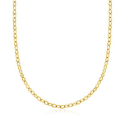 Italian 14kt Yellow Gold Oval-Link Necklace