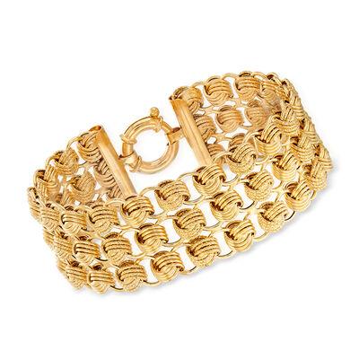 Italian 14kt Yellow Gold Multi-Row Bracelet, , default