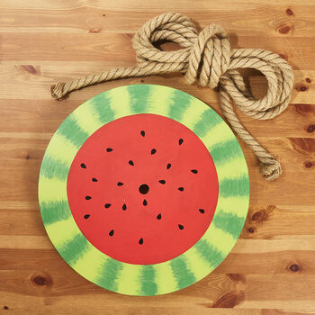 Sweet Summer Watermelon Swing with Rope