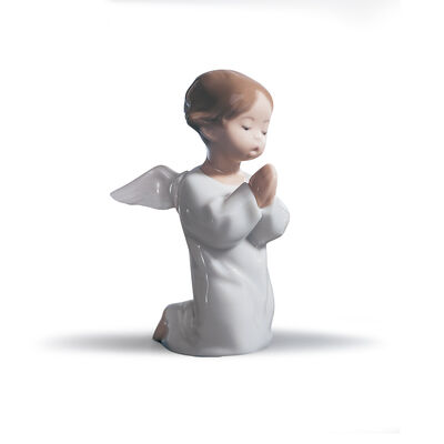 "Lladro ""Angel Praying"" Porcelain Figurine, , default"