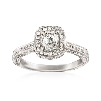 Henri Daussi 1.37 ct. t.w. Diamond Engagement Ring in 14kt White Gold, , default