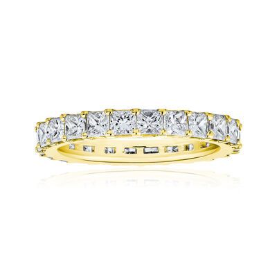 2.75 ct. t.w. Princess-Cut Diamond Eternity Band in 14kt Yellow Gold, , default