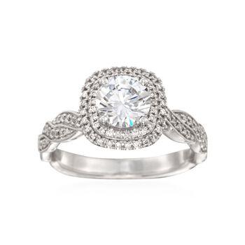 Simon G. .25 ct. t.w. Diamond Engagement Ring Setting in 18kt White Gold, , default