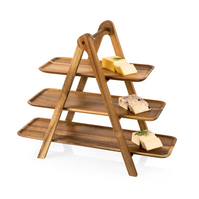 Acacia Wood 3-Tier Serving Ladder