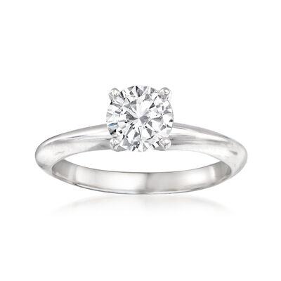 1.00 Carat Diamond Engagement Ring in 14kt White Gold