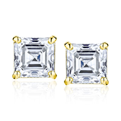 .95 ct. t.w. Diamond Stud Earrings in 14kt Yellow Gold, , default