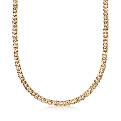 14kt Yellow Gold Braided Link Necklace, , default