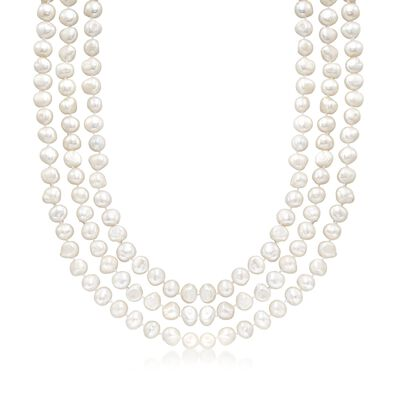 9-10mm Cultured Semi-Baroque Pearl Endless Necklace, , default