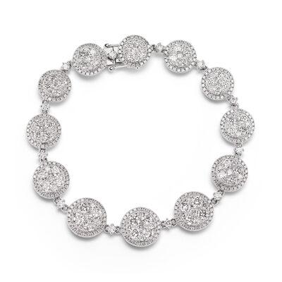 6.70 ct. t.w. Diamond Cluster Bracelet in 18kt White Gold