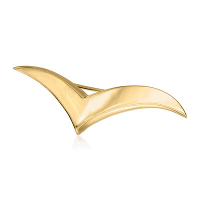 C. 1980 Vintage Tiffany Jewelry 18kt Yellow Gold Seagull Pin