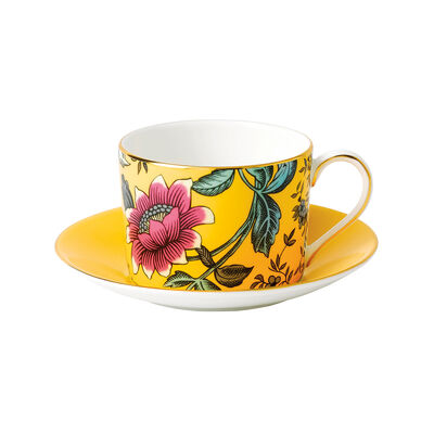 "Wedgwood ""Wonderlust"" Yellow Tonquin 2-pc. Teacup and Saucer Set, , default"